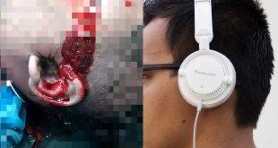 Murió electrocutado por usar audífonos cuando cargaba su celular