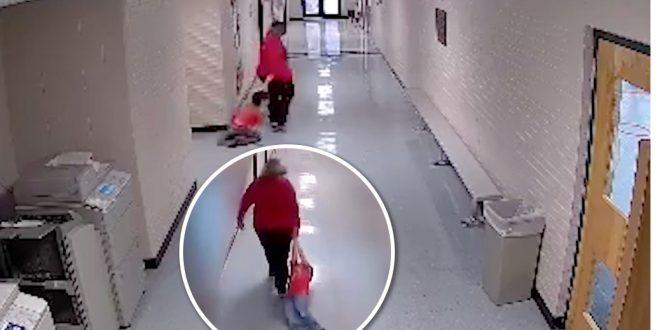 Profesora arrastra por un pasillo a niño con autismo (VIDEO)