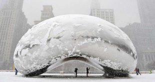 Vórtice polar congela Chicago, esperan sensación térmica de -48 grados