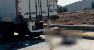 Muere policía tras accidente en el Arco Norte, a altura de Huichapan