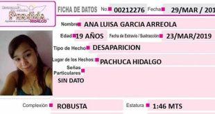 Se busca a Ana Luisa García Arreola, desapareció en Pachuca