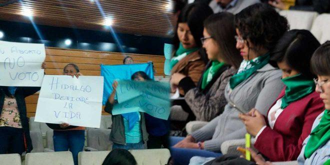Presentan iniciativa para despenalizar el aborto en Hidalgo