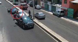 Así detuvieron a varios sujetos por golpear y amenazar a automovilistas en Tulancingo