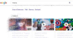 Busca Thanos en Google, ponte el guantelete y ve lo que sucede…