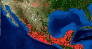 Mapea NASA incendios en México