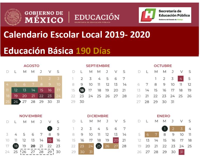 Calendario Escolar 2020 Sep Cdmx.Conoce El Calendario Escolar De La Sep Para El Ciclo 2019 2020