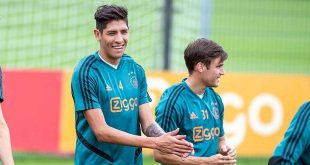 Ya entrena Edson Álvarez con el Ajax
