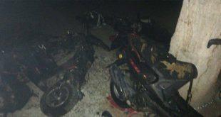 Se incendia un taller de motocicletas en Tizayuca