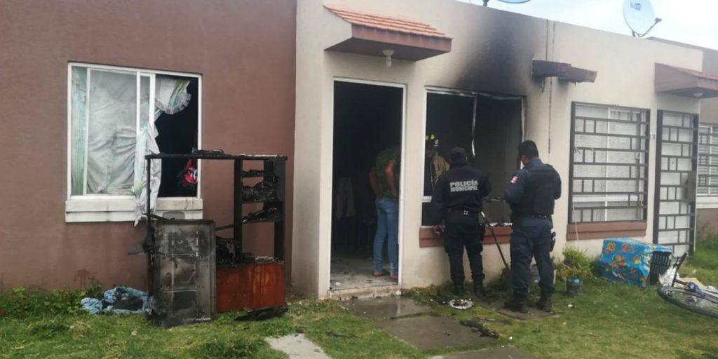 Se incendia vivienda en Tizayuca